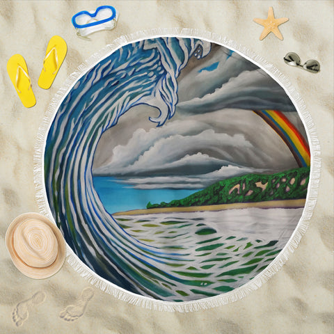 Rainbow Country Beach Blanket