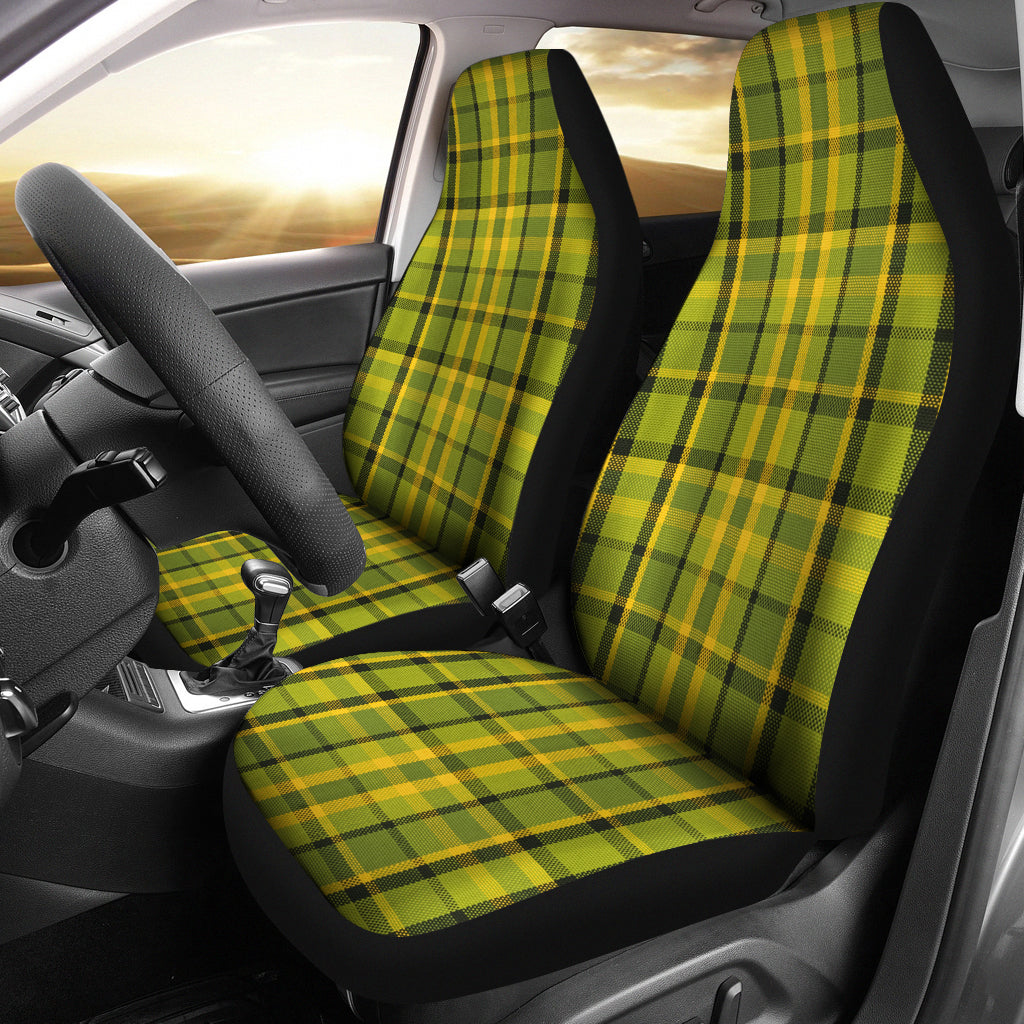 Green Plaid Seat Covers