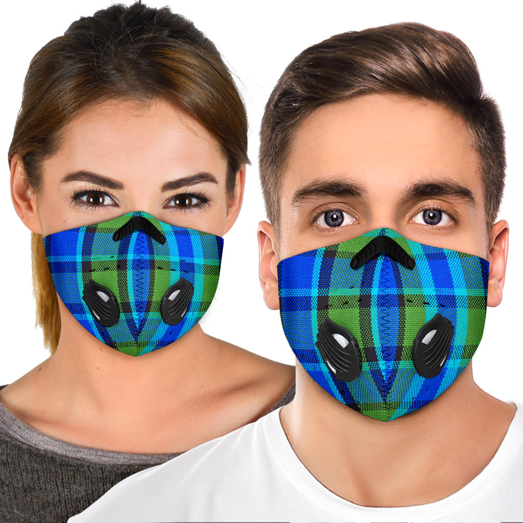 Westy Blue Plaid Premium Face Mask