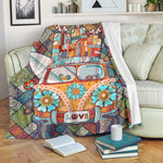 Peace & Love Fleece Blanket