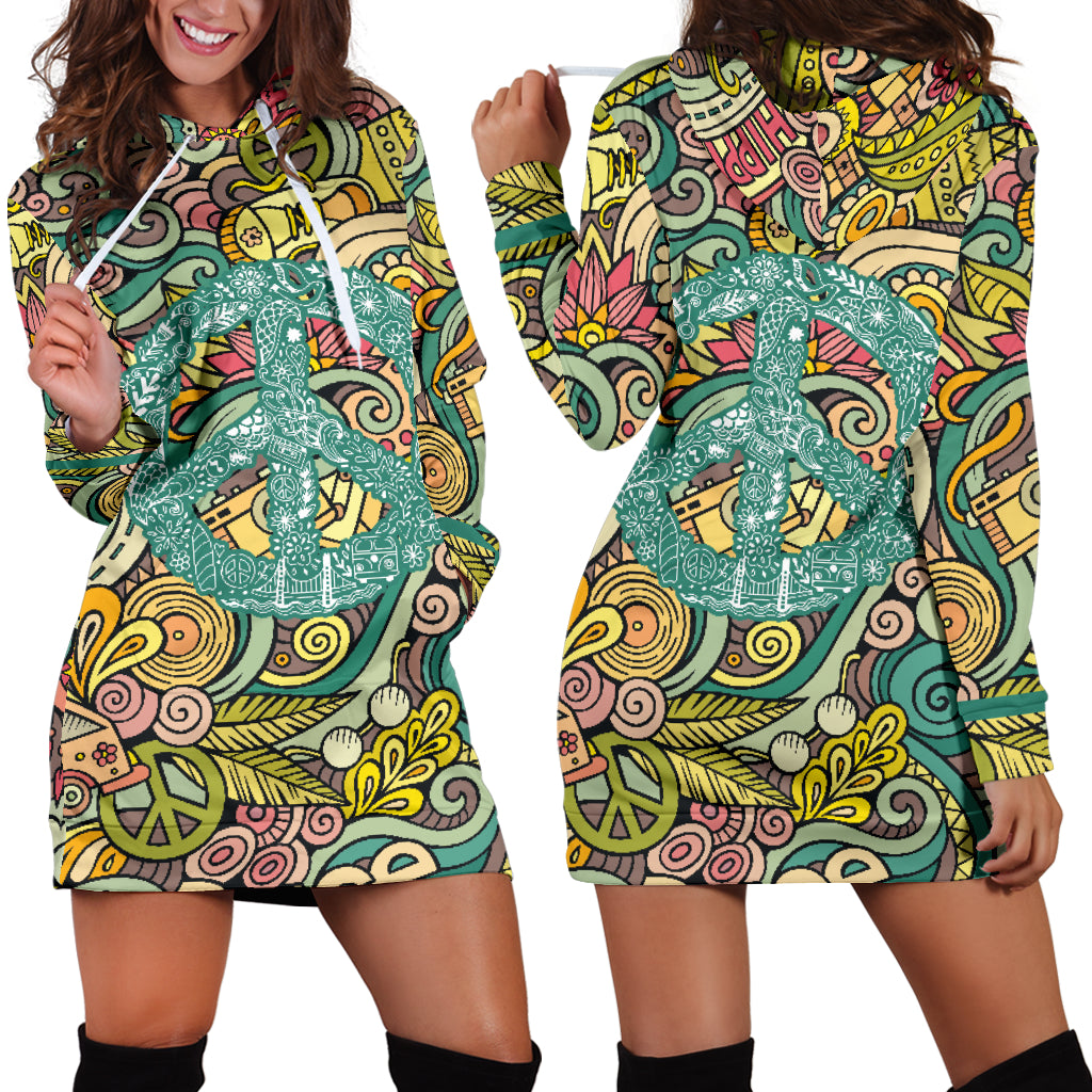 Hippie Peace Women's Hoodie Dress