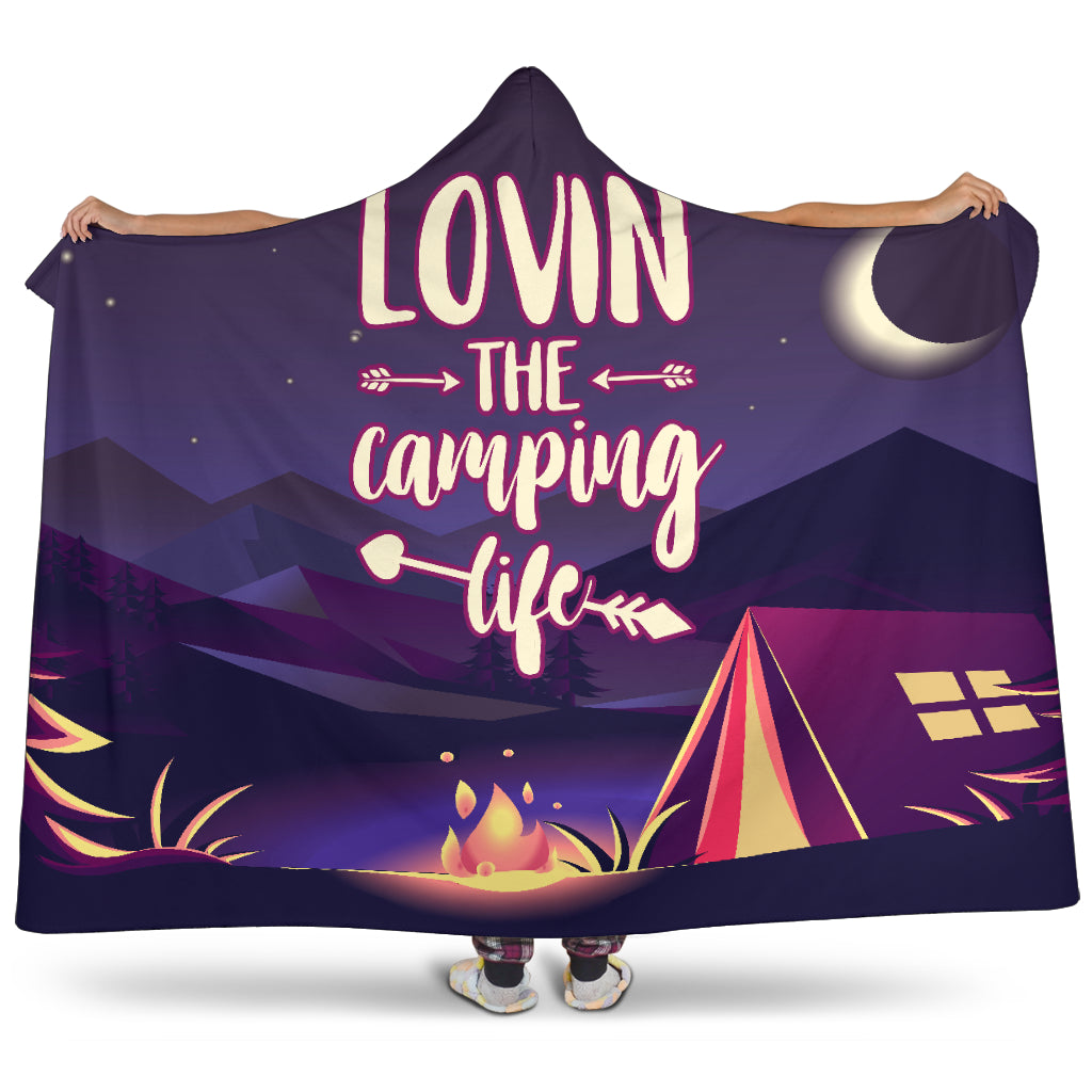 Lovin' The Camping Life Hooded Blanket