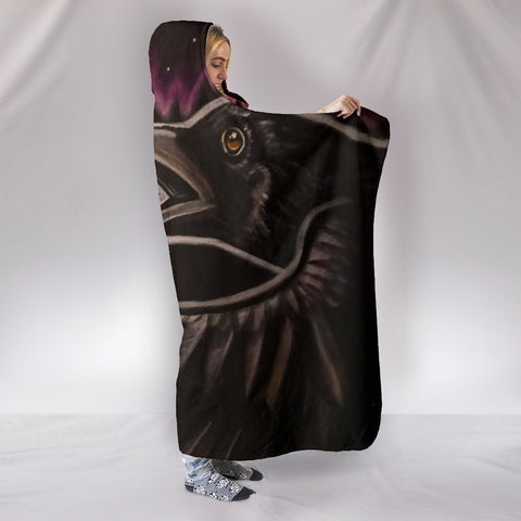 Raven's Wing Hooded Blanket