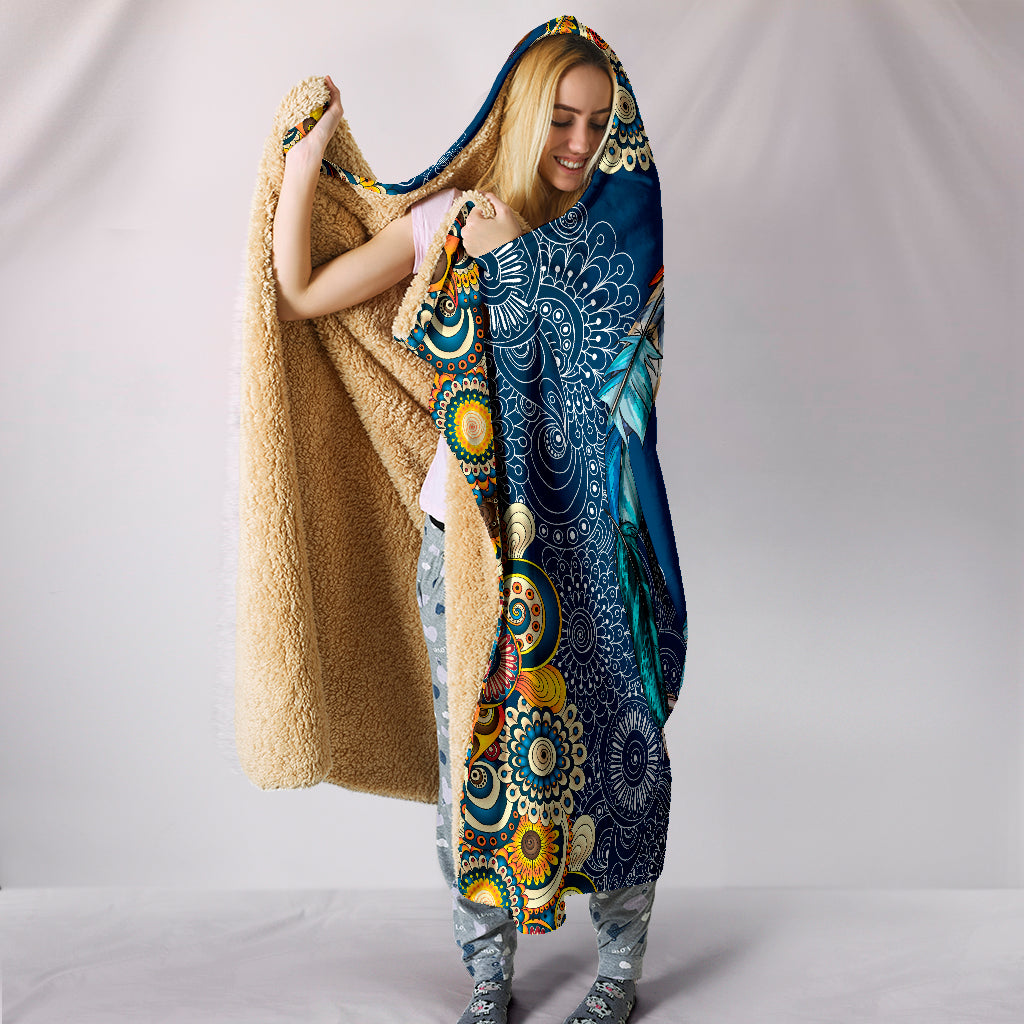 Peace and Boho Hoodie Blanket