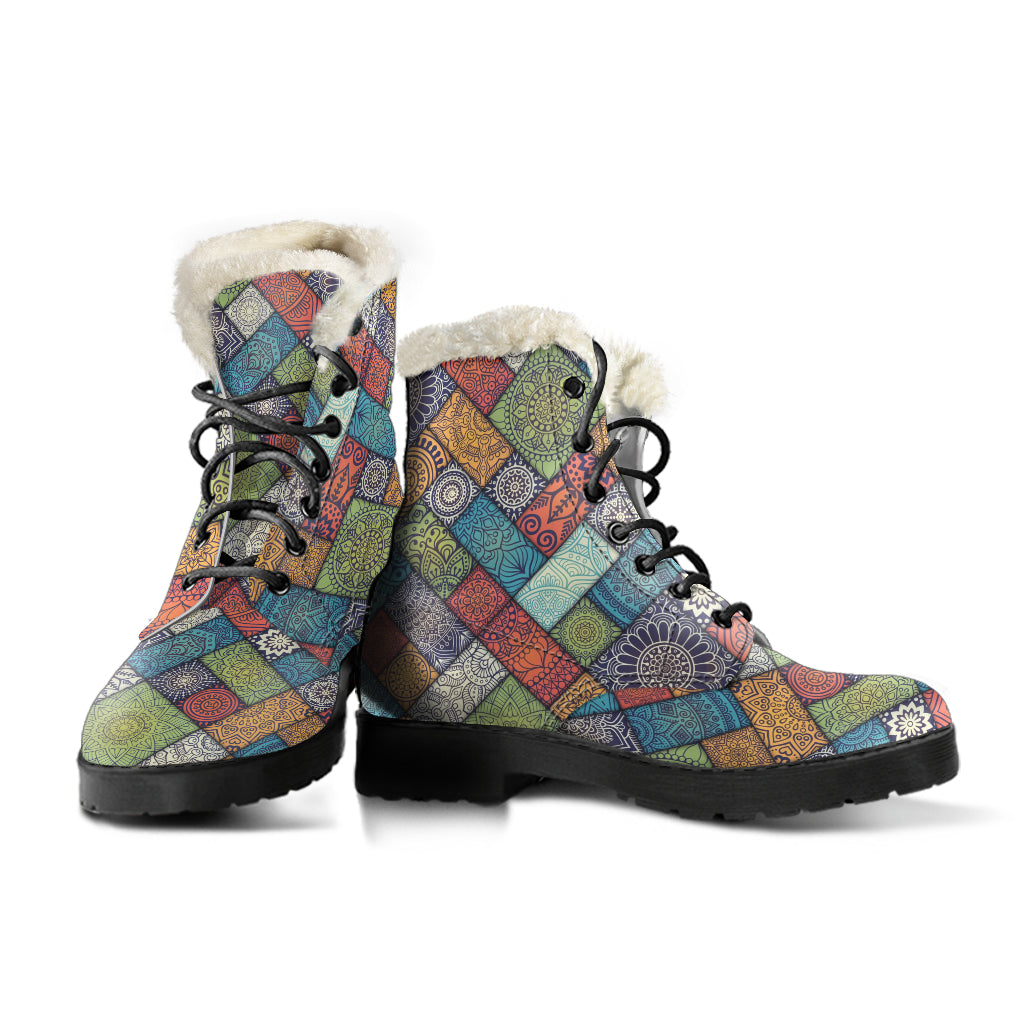 Hippie Patches Fur Boots