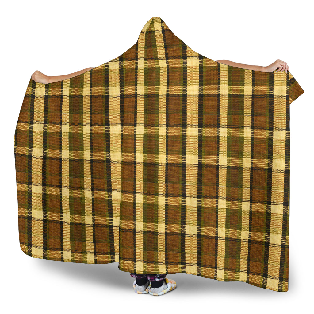 Westy Brown Plaid Hooded Blanket