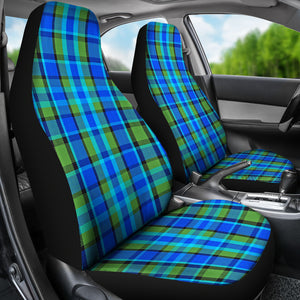 Blue Plaid Seat Covers