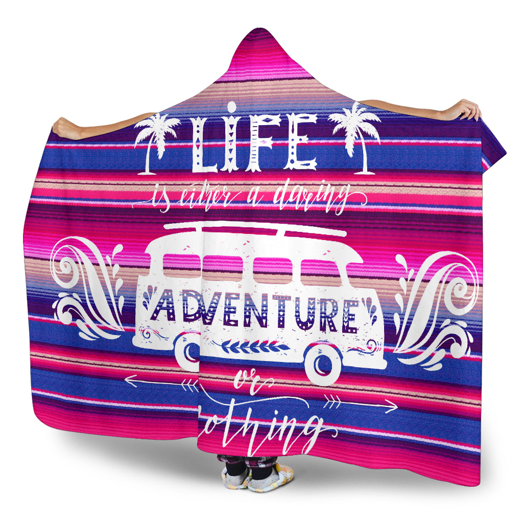 Daring Adventure Sarape Magic Hooded Blanket