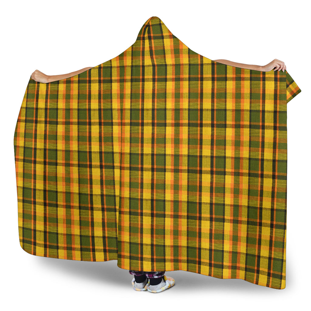 Yellow Westy Plaid Hooded Blanket