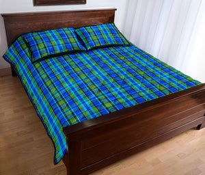 Westy Blue Plaid Quilted Bedding Set