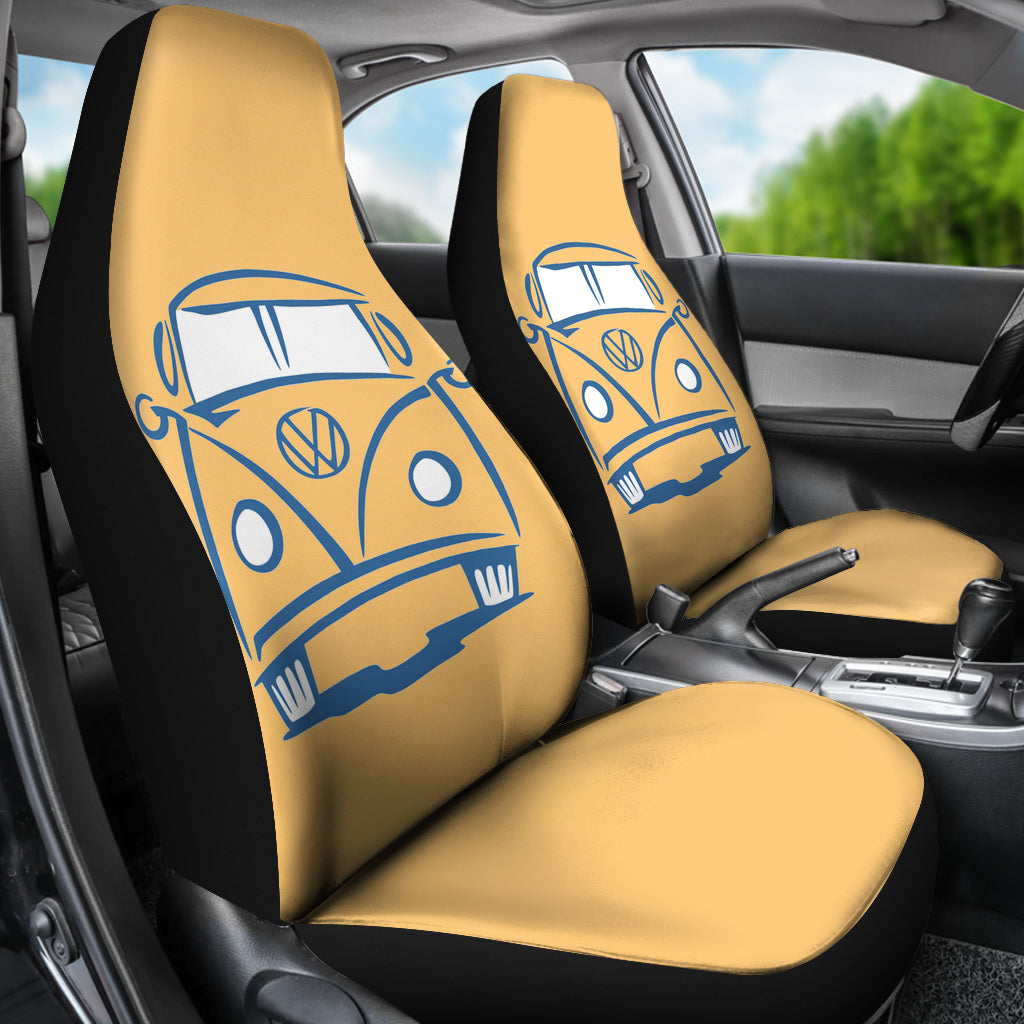 V-Dub Bus Face Seat Cover Orange