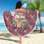 Hippie Bus Beach Blanket