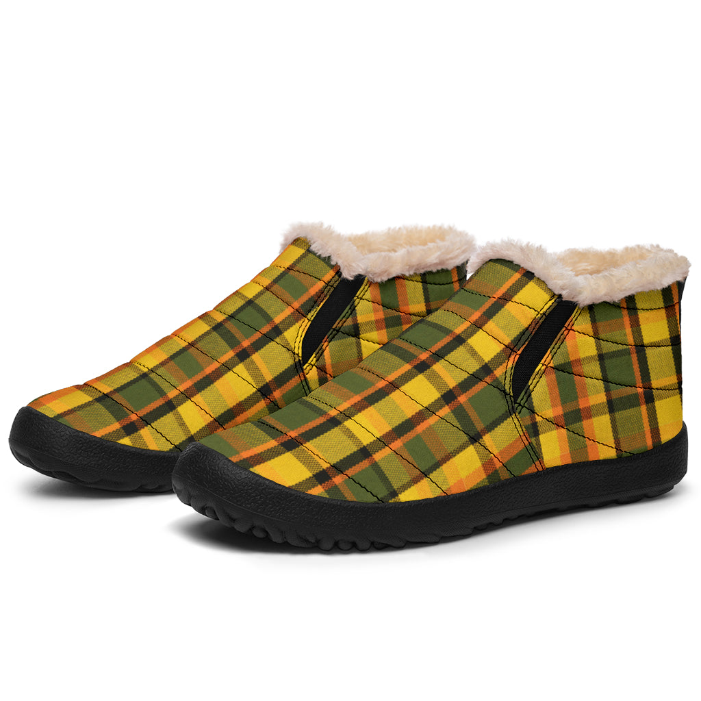 Westy Yellow Plaid Winter Sneakers