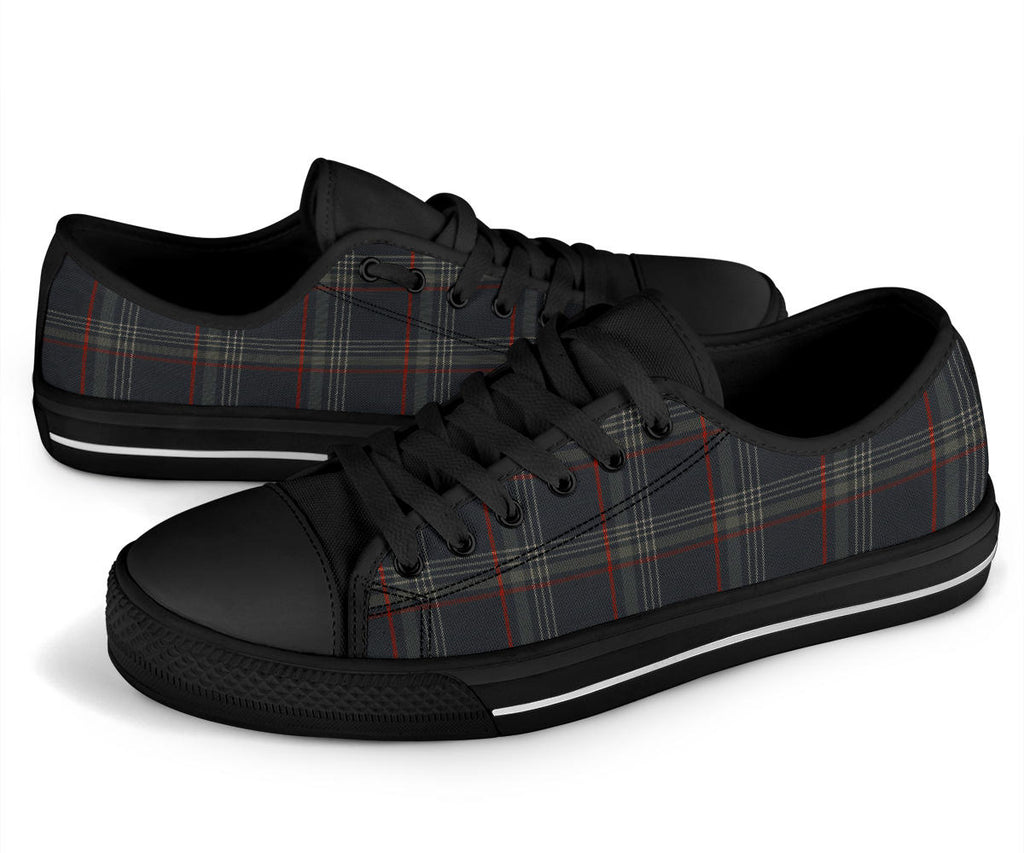 MK7 Tartan Plaid Red & Black Low Tops