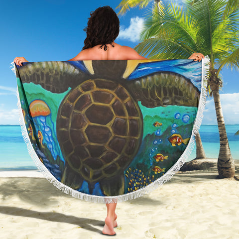 Turtle Sea Beach Blanket