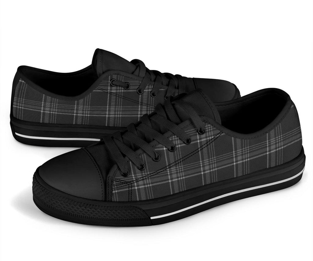 MK7 Tartan Plaid Grey & Black Low Tops