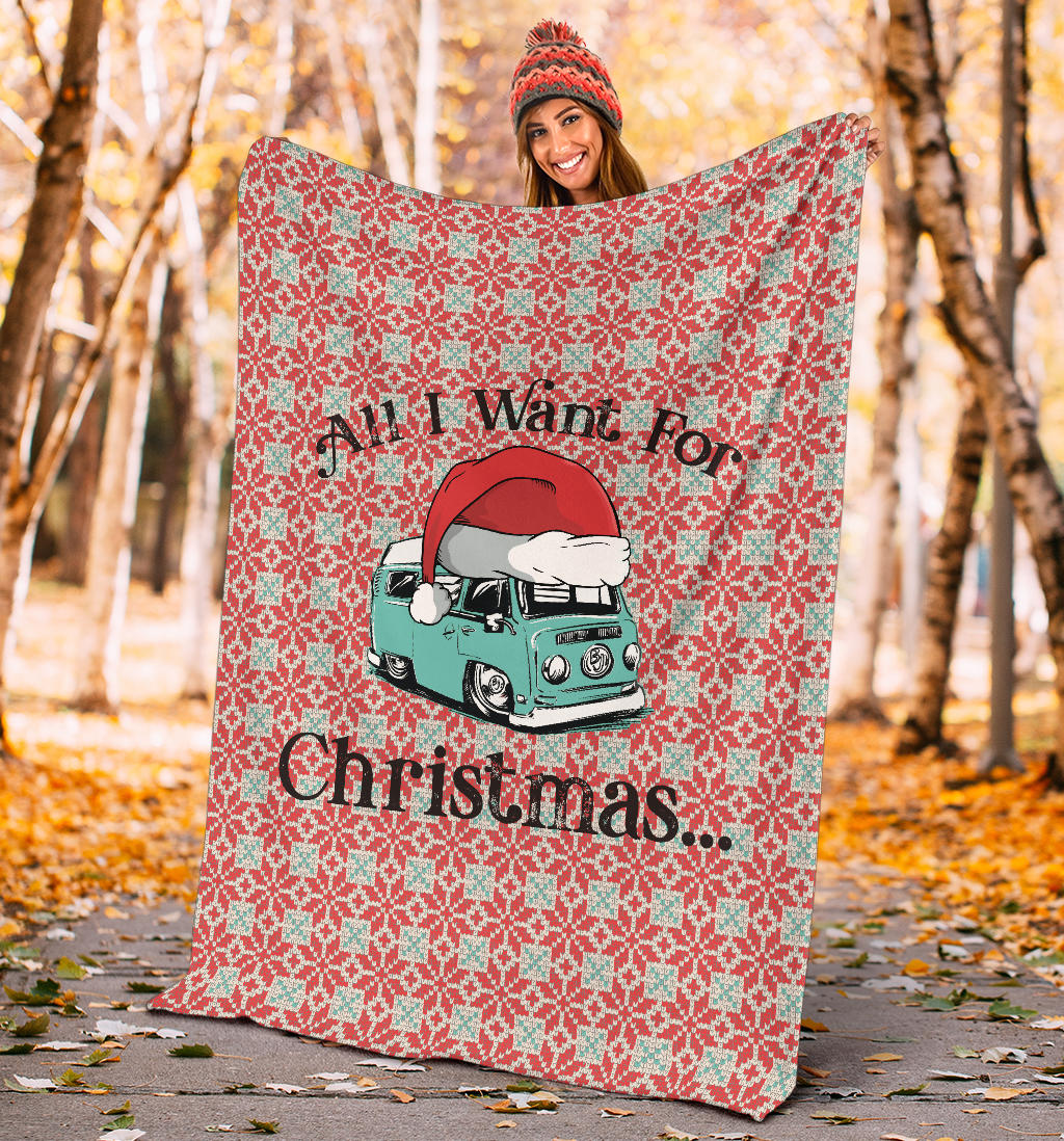 All I Want For Christmas Bay Blanket