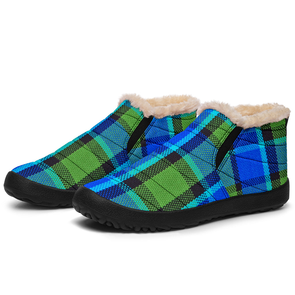Westy Blue Plaid Winter Sneakers