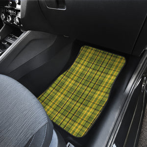 Retro Green Plaid Floor Mats