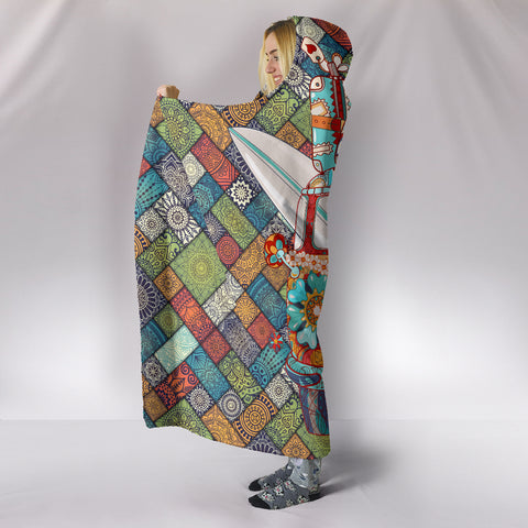 Peace and Love Bus Hooded Blanket
