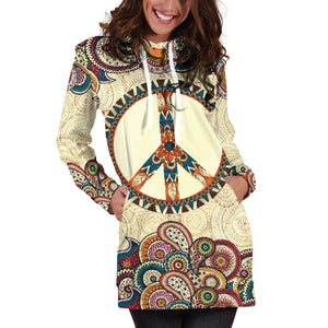 Peace and Beach Hoodie Dress