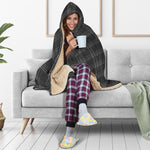 MK7 Clark Plaid Black & Grey Hooded Blanket