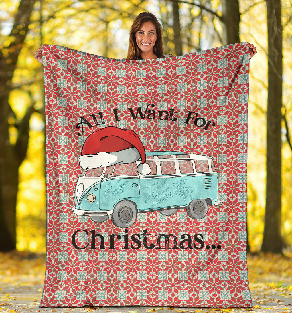 All I Want For Christmas Deluxe Bus Blanket