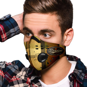 Brown Plaid Premium Face Mask