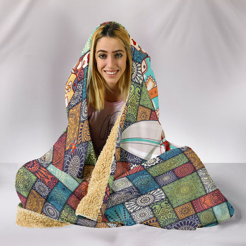 Peace & Love Bus Hooded Blanket