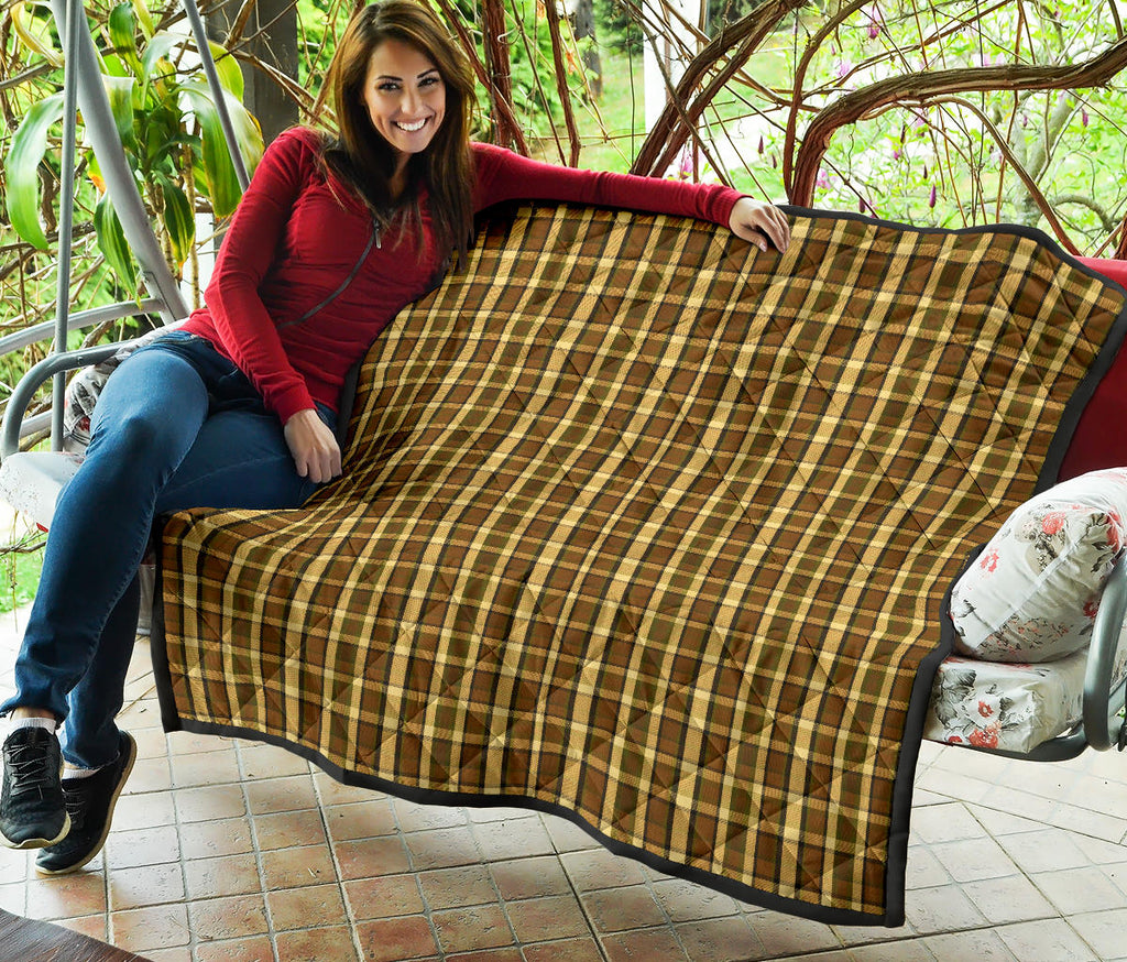Westy Brown Plaid Quilt