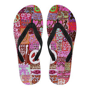 Peace and Love Flip Flops