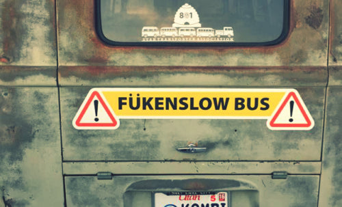 FUKENSLOW BUS Magnetic Sign