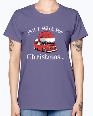 All I Want For Christmas Bay - Ladies T-Shirt