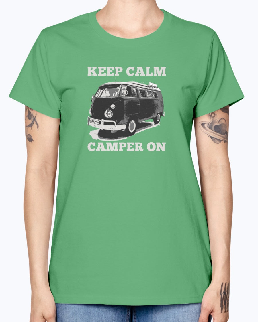 Keep Calm, Camper On - Ladies T-Shirt