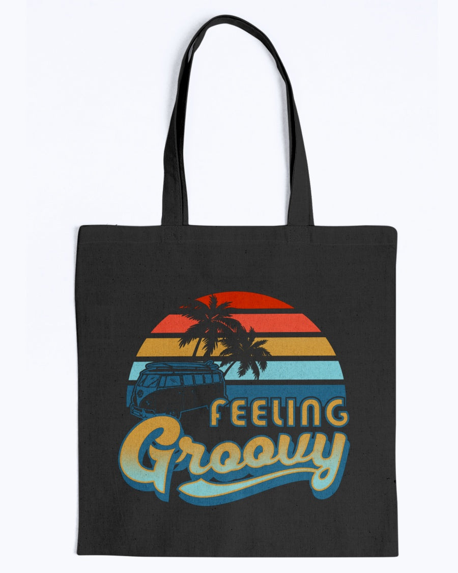 Feelin' Groovy Canvas Tote Bag