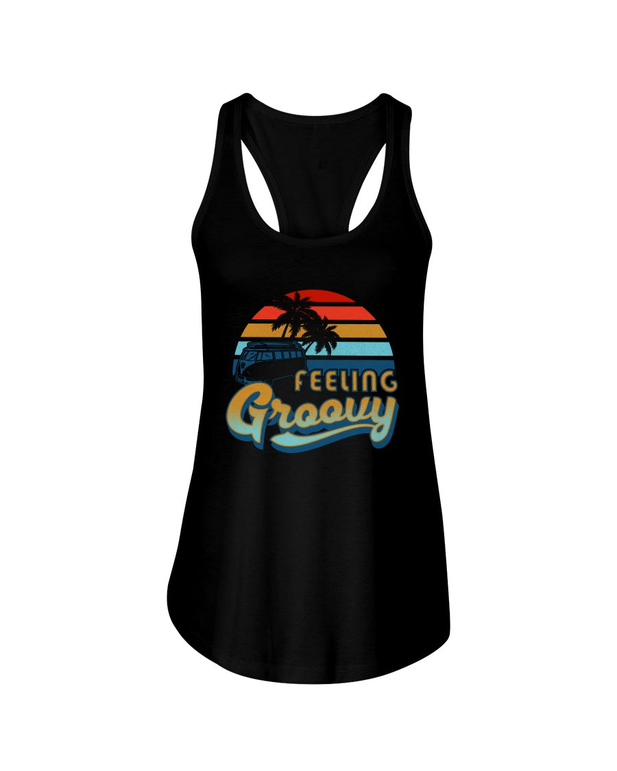 Feelin' Groovy Next Level Ladies Racerback Tank