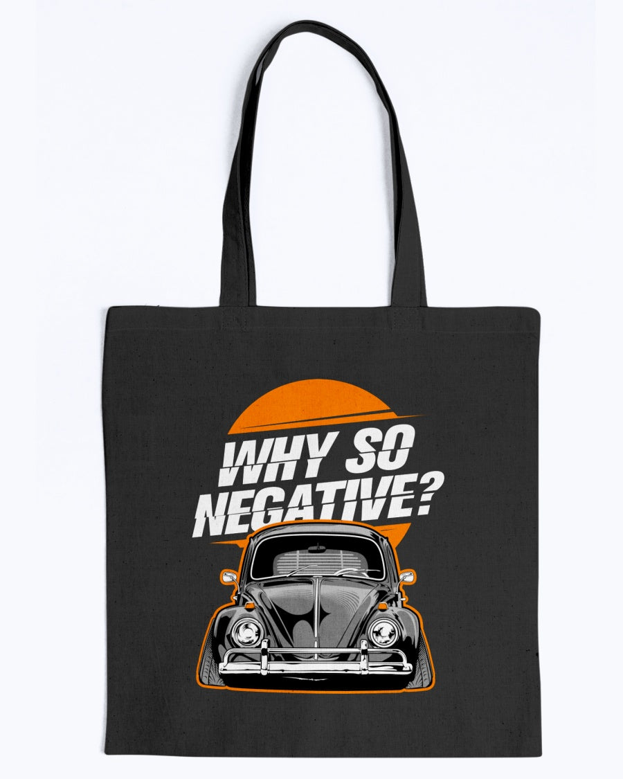 Why So Negative Canvas Tote Bag