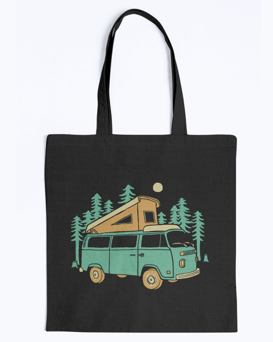 Forest Camper Canvas Tote Bag