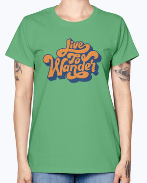 Live To Wander Ladies T-Shirt