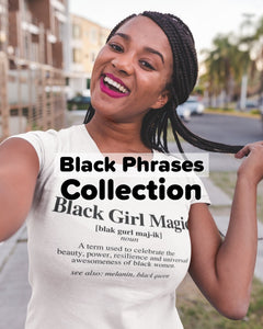 Black Phrases Collection | Always Poppin Shop