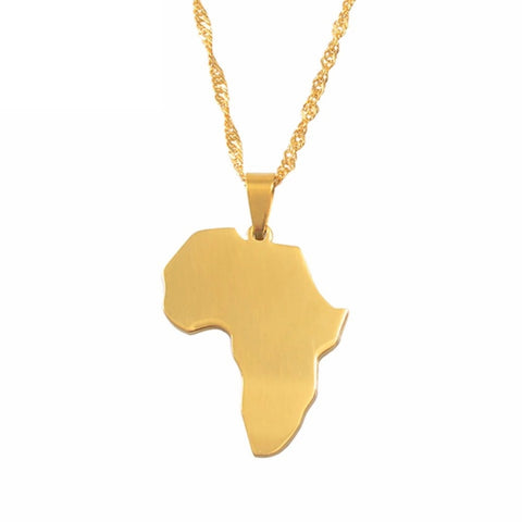 Africa Pendant Necklace - Always Poppin Shop