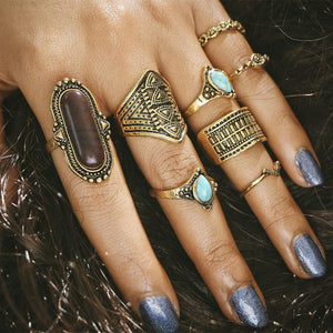 Antique Midi Rings Set - Always Poppin Shop