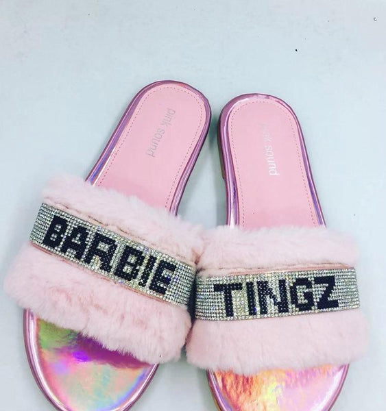 Barbie Tingz Fur Slipper - Always Poppin Shop
