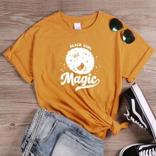 Black Girl Magic Fro Tee - Always Poppin Shop