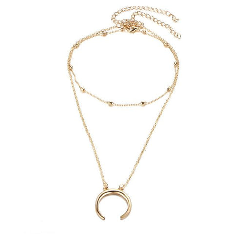 Crescent Moon Necklace - Always Poppin Shop