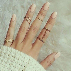 Crystal Heart Midi Ring Set - Always Poppin Shop
