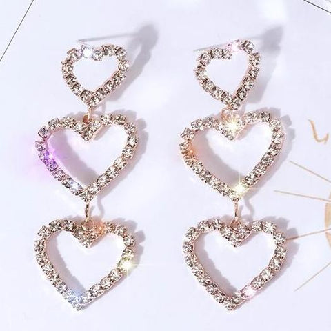 Heart Dropping Earrings - Always Poppin Shop