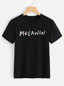 "Melanin ""Friends"" Tee - Always Poppin Shop"