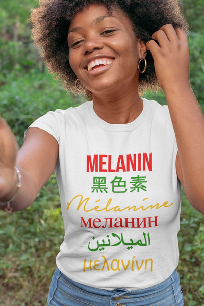 Multilingual Melanin T-shirt - Always Poppin Shop
