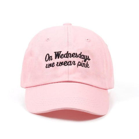 On Wednesdays We Wear Pink Dad Hat - Always Poppin Shop